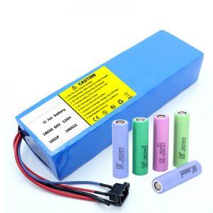 Литиева батерия 18650 60V 12AH литиево-йонна акумулаторна акумулаторна батерия