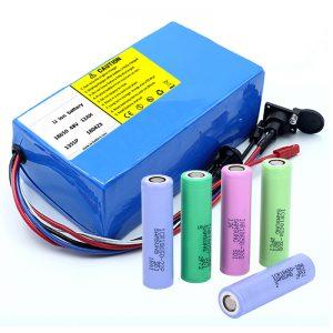 Литиева батерия 18650 48V 12AH 48V 500W електрическа батерия с BMS