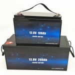 Deep Cycle LiFePO4 слънчева батерия 12V 100Ah / 200Ah голф количка литиево-йонна батерия