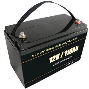 Оловно-киселинна резервна соларна акумулаторна батерия 12V 110Ah lifepo4 литиева батерия