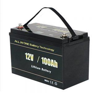 ВСИЧКО В ЕДНО Най-безопасната слънчева RV 12v 100ah LiFePO4 литиева батерия