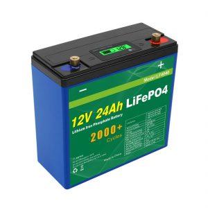 Слънчев дълбок цикъл 24v 48v 24ah Lifepo4 батерия UPS 12v 24ah батерия
