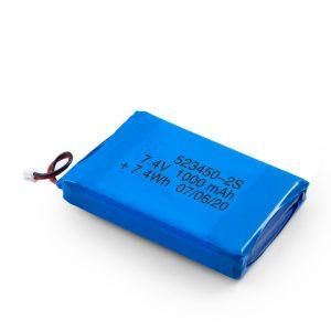 Акумулаторна батерия LiPO 523450 3.7V 1000mAH / 7.4V 1000mAH / 3.7V 2000mAH