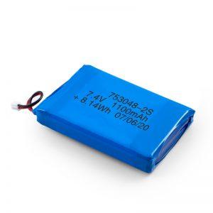 Акумулаторна батерия LiPO 753048 3.7V 1100mAh / 7.4V 1100mAH / 3.7V 2200mAH