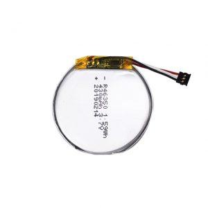 LiPO батерия 46350 3.7V 350mAH смарт часовник батерия 46350 малка плоска кръгла литиева полимерна батерия за играчки